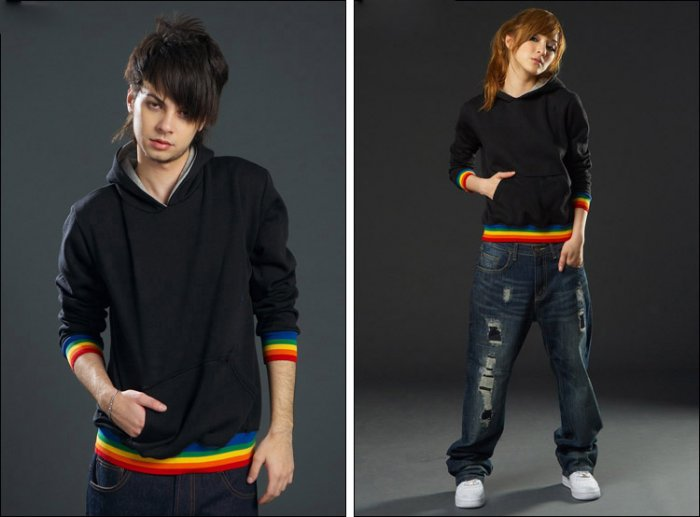 Korean Fashion Wholesale [C2-362] Athletic & Sporty Couple Hoodie Jacket - black