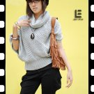 Korean Fashion Wholesale [C2-6095] Stylish & Soft & Warm Banded Sweater Top - light gray