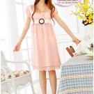 Korean Fashion Wholesale [B2-3634] Beautiful & Elegant Soft Chiffon Dress - soft pink