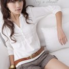 Korean Fashion Wholesale [C2-5257] Pretty & Trendy Detailed Korean style Top - white
