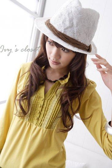 Korean Fashion Wholesale [C2-5257] Pretty & Trendy Detailed Korean style Top - yellow