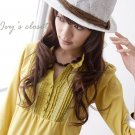 Korean Fashion Wholesale [C2-5257] Pretty & Trendy Detailed Korean style Top - yellow