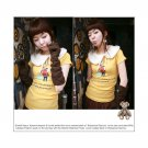 Korean Fashion Wholesale [B2-1338] Cute Little Graphic T-shirt - yellow