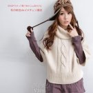 Korean Fashion Wholesale [B2-1593] Pretty & Comfy Turtleneck Warm Sweater - white