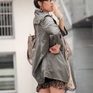Korean Fashion Wholesale [C2-6089] Pretty & Decent Korean Windbreaker Light Coat -olive-Size M