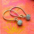 Ice Grey Quartz Sterling Silver Modern Half-Hoop Earrings