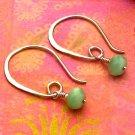 Green Quartz Sterling Silver Modern Half-Hoop Earrings