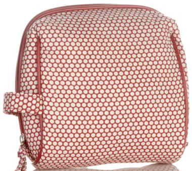Serious Skin Care Red & White Polka Dot Cosmetic Toiletry Makeup Bag