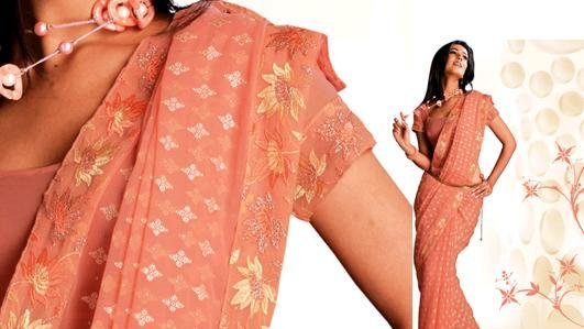 Designer Georgette Saree with Delicate floral print
