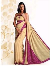 Designer Chiffon Saree with Self colour motif print