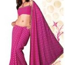 Designer Georgette Saree with Contrast motif design