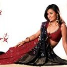 Designer Georgette Saree with Flower design and buttis