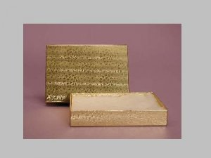 Gold Foil Gift Box for Medium Necklaces, Tennis Bracelets, Larger Earrings