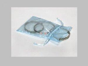 Pretty Aqua Organza Drawstring Gift Bag for Jewelry Item