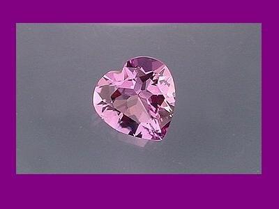 Heart Cut Pastel Lilac Amethyst 8x8mm Loose Gemstone
