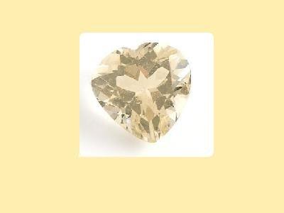 Set of 2 Citrine 8x8mm Heart Cut Loose Gemstones