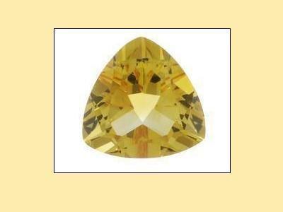 Citrine Trillion Cut 10x10x10 mm Loose Gemstone