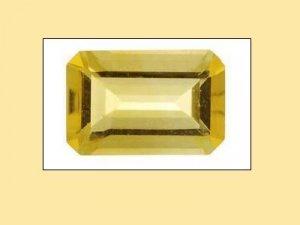 Citrine 12x10mm Emerald Octagon Radiant Cut Loose Gemstone