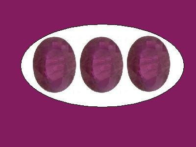 Set of 3 Rubies 8x6mm Oval Cut Loose Gemstones