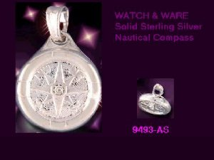 NEW Ship's Compass or Wheel Sterling Silver Charm or Pendant