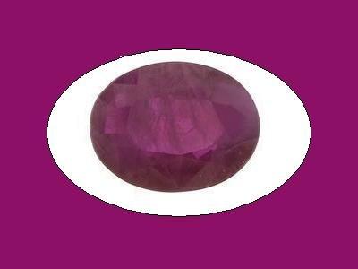 Ruby 10x8mm 3 ct. Oval Cut Loose Gemstone