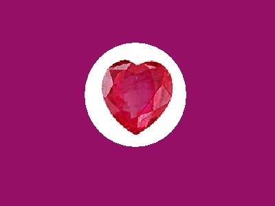 Ruby 3ct 9x9mm Heart Cut Loose Gemstone