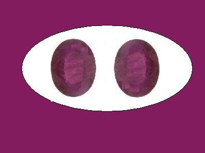 Ruby Pair of Oval Cut 9x7mm Loose Gemstones