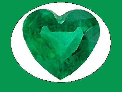 Emerald 10x10 mm Heart Cut Loose Gemstone