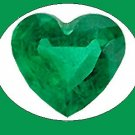 Emerald 10x10 mm Heart Cut Loose Gemstone