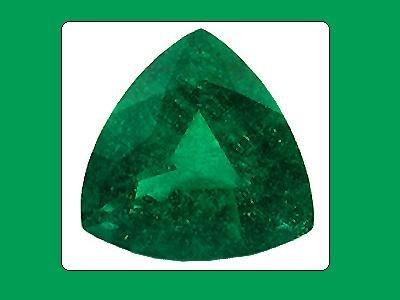 Emerald Unique Graining 10x10x10mm Trillion Cut Loose Gemstone