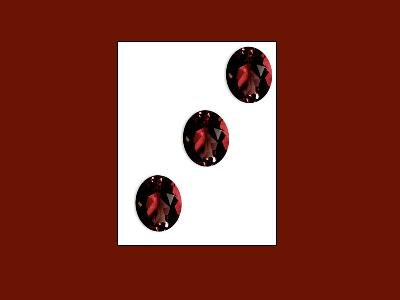 Garnet set of 3 Oval Cut 6x4mm Loose Gemstones