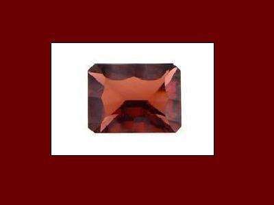 Garnet 8x6mm Ocatagon, Emerald or Oblong Cut Loose Gemstone