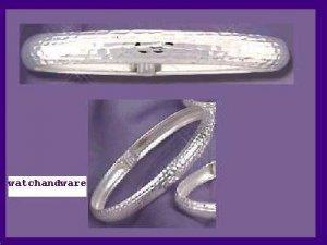 NEW Bangle Hammered Finish Sterling Silver Bracelet