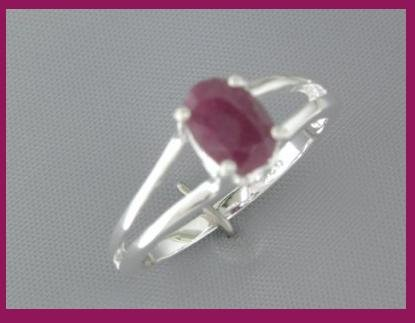 3239: NEW 1ct RUBY  Sterling Silver Ring SIZE size 6.25