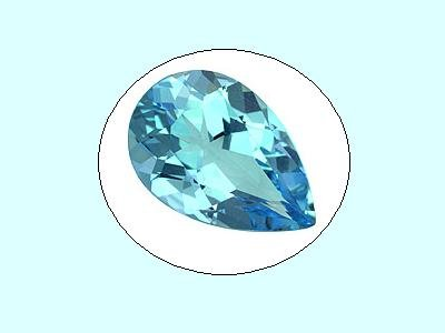 Swiss Blue Topaz 12x8mm 3.58ct Pear Cut Loose Gemstone