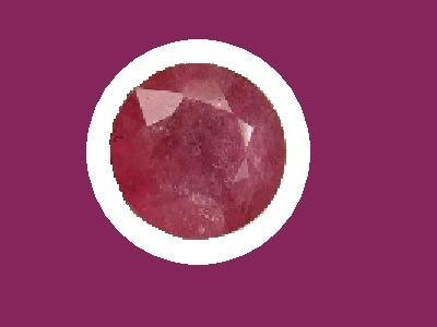 Ruby 7.5 mm Round Cut Loose Gemstone