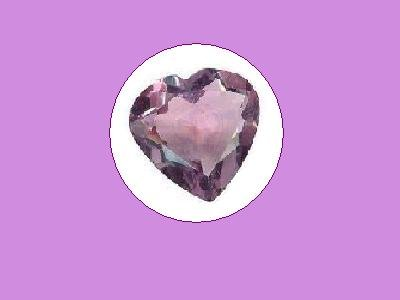Amethyst 4ct. 13x13 mm Heart Cut Loose Gemstone