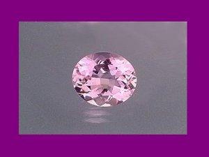 Almost White Amethyst 14.5x12mm Oval Cut Loose Gemstone.