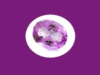 Unusual Amethyst 14x10mm Oval Cut Loose Gemstone
