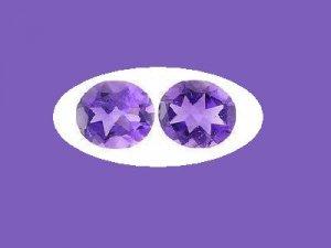 Pair of Oval Cut Amethysts 6ctw. 11x9mm Loose Gemstones