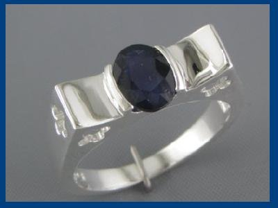 NEW Oval 1.50ct Sapphire Sterling Silver Ring Size 8.25