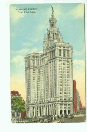 73601 NY New York Postcard Municipal Building 1917