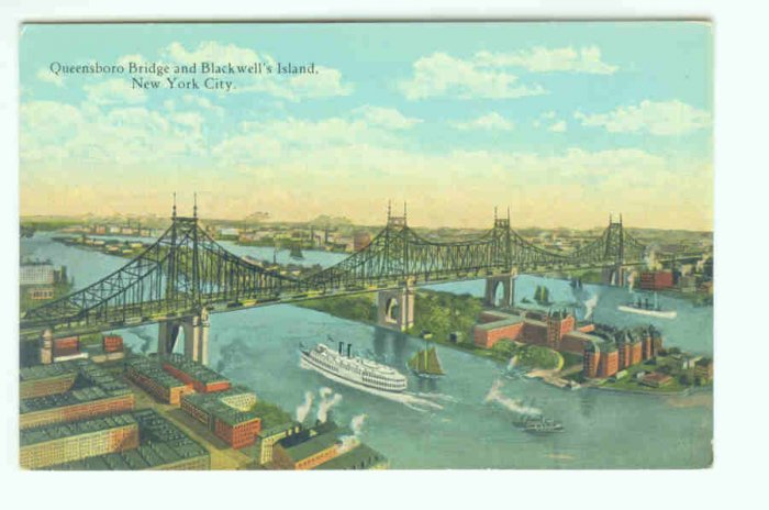 73610 NY New York City Queensboro Bridge Postcard