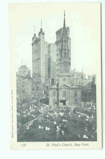 73612 NY New York City St Pauls Church Postcard