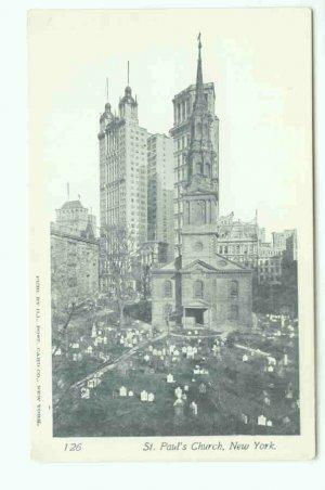 73612 NY New York City St Pauls Church Postcard
