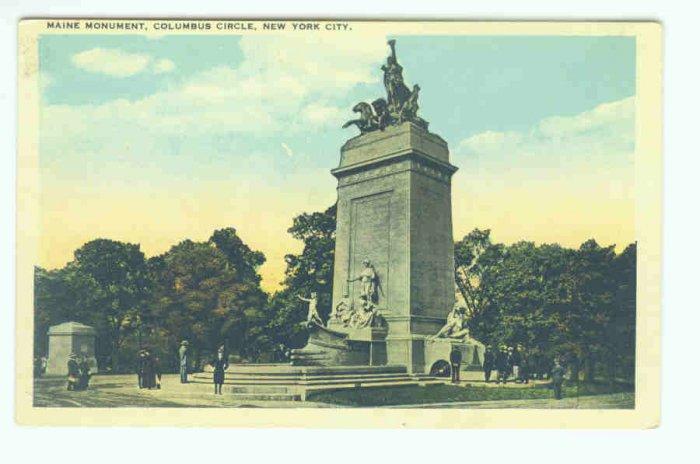 73616 NY New York Battle Ship Maine Monument Postcard