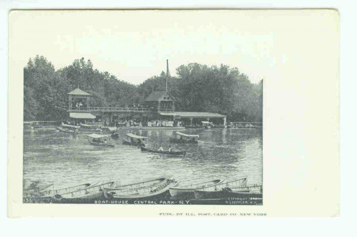 73618 NY New York City Boat House Central Park Postcard