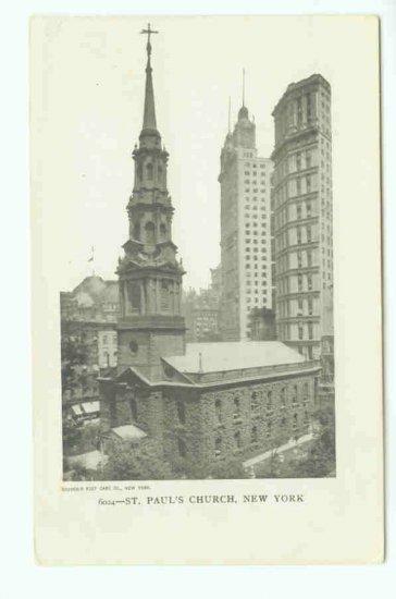 73619 NY New York City St. Pauls Church Postcard
