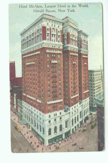 73621 NY New York City Vintage Postcard  Hotel McAlpin 1912