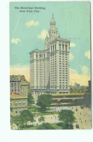 73622 NY New York City Vintage Postcard Municipal Building